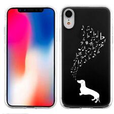 Slim TPU Phone Case for Apple iPhone XR - Dachshund Music