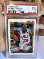 Michael Jordan 1992 Skybox Nba #sc1 Supreme Court Insert Mint Psa 9 Chicago Bull