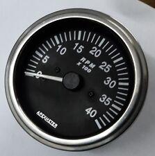 Tachometer 0-4K RPM  Magnetic pickup Sensor Driven Chrome  Bezel
