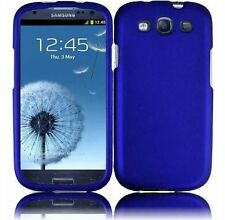 Hard Rubberized Case for Samsung Galaxy S3 i9300 - Blue