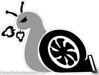 "Turbo Boost Snail 4"" Vinyl Decal Window Car Vehicle Sticker Emblem JDM Euro"