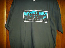 SYSTEM CYCLE SYMPOSIUM 2009 T-SHIRT - NEW! - EXTRA LARGE  XL BMX