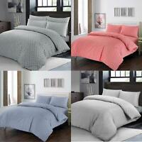 Fil-a-Fil Chambray Bedding with Polka Dot Quilt Duvet Cover Pillowcase Set