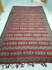 Authentic And Old Vintage Red Wool Carpet Handmade By Moroccan Berber