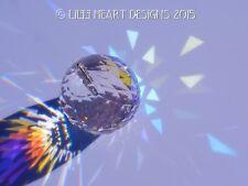 40mm SWAROVSKI CRYSTAL BALL 8558 PRISM AB Hanger SUNCATCHER Lilli Heart Designs