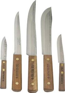 NEW OLD HICKORY 705 USA 5 PIECE KITCHEN KNIFE SET CUTLERY NEW IN BOX 5520929