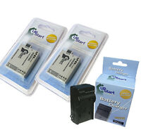 2x Battery +Charger for Canon Rebel XS, EOS Rebel XS, EOS Rebel T1I, EOS 450D
