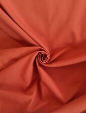 Terracotta Canvas Weave Quality Curtain & Interior Fabric Material Per Metre
