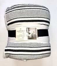 Hearth & Hand with Magnolia KING Quilt Texture Stripe Black & White SOLD OUT NWT