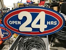 Open 24 Hours Sign Indoor For Window Lighted 120 Volts