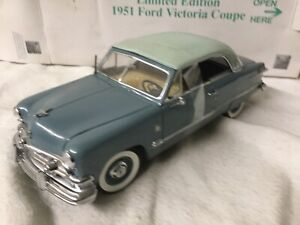 Danbury Mint 1:24 Limited Edition 1951 Ford Victoria Alpine Blue No Papers