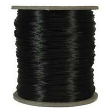 70 Yds.BeadSmith 1mm Black Satin Rattail Braiding Cord Macramé Kumihimo Jewelry