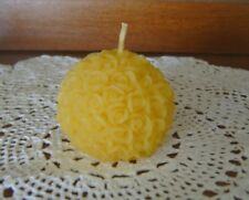 Natural Handmade Beeswax Candles - ball of roses votive