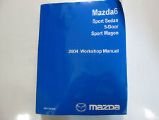 2004 Mazda 6 Mazda6 Sport Sedan Service Repair Shop Manual FACTORY OEM BOOK 04 x