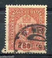 AUTRICHE, 1916-18 TIMBRE 155, ARMOIRIE, oblitéré