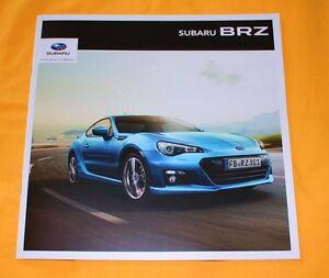 Subaru BRZ 2012 Prospekt Brochure Catalogue Depliant Prospetto