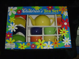 Children's Tea Set-Porcelain-Bright Colors-3 and UpToys & Hobbies Preschool Play