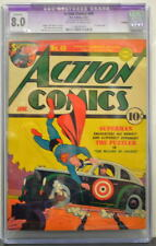 ACTION COMICS #49 CGC 8.0 Superman 1941 Classic Cover