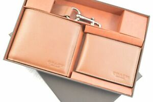 Coach F64118 CWH Compact I.D. In Sport Calf Leather Gift Set Men's Wallet