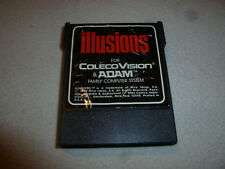 VINTAGE COLECO COLECOVISION & ADAM ILLUSIONS VIDEO GAME CARTRIDGE 1984 CART >>>