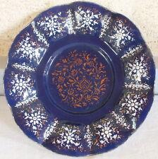 Limoges émaux années 50 assiette décorative émaillée sur cuivre