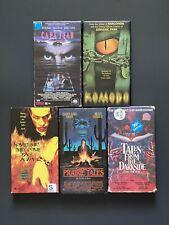 Horror VHS Lot 5 RARE Horror VHS Tapes Horror Anthology, Monster Movies