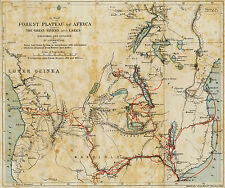 Poster - The journeys of Livingstone in Africa between 1851 & 1873 (Cartography)