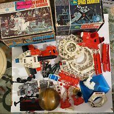 Vtg RARE LOT Mattel's Man In Space Firebolt Crawler Cannon Toy Action Figure Set