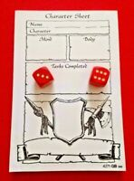 Heroquest 2 Original Red Movement Dice & Pad of 70 Character Sheets