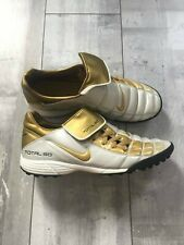 Nike Total 90 Indoor Soccer Football Cleats Gold White RARE US 10 UK 9 EUR 44