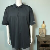 Men's 2XL Albertsons Grocery Stores Gray SS Employee Work Polo Shirt