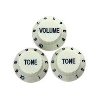 3 Pcs Guitar Knobs 1 Volume 2 Tone for Fender Strat Stratocaster Electric Guitar