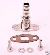 """Billet Aluminum Oil Drain Flange w/ straight 3/4"""" barb Garrett T3 T4 T04B T04E"""
