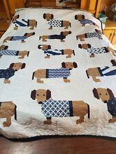 Miniature Dachshund Weiner Dog Quilt Blanket 68×80