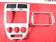 DODGE CALIBER NAVIGATION Silver Instrument Bezel W/Bracket NEW OEM MOPAR