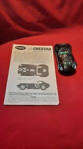 Cox Cheetah Slot Car 1/32 Black As Found w/ Instructions Sheet No Box Used