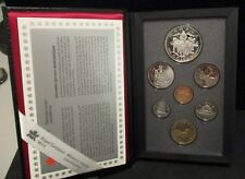 1994 Canada Dogsled Team Proof Double Dollar 7 Coin Set - Original Packaging