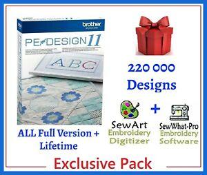 Brother PE Design 11 Software Embroidery ⭐+220 000 Designs ⭐ INSTANT DELIVREY⭐