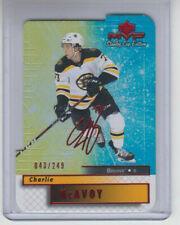 19/20 UD MVP Boston Bruins Charlie McAvoy 20th Ann. C & C card #18 Ltd #43/249