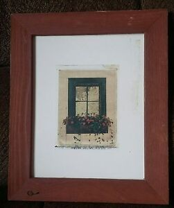 Framed Country Window Wall Picture Home Decor Art