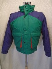 GANT Large Down Filled Green Purple Red Hooded Winter Snow Puffer Jacket/Coat