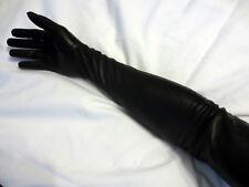 """Jet Black Fratelli OrsiniItalian Leather Opera Gloves, Size 7 - 7 1/4, 23 1/2"""""""