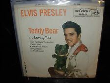 "ELVIS PRESLEY teddy bear / loving you  ( rock ) 7""/45 picture sleeve"