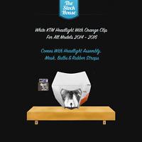 WHITE KTM HEADLIGHT ORANGE CLIP 14 15 16 HEADLAMP LIGHT EXC EXCF XC XCW SX SXF