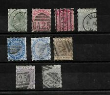 Malta, 1885 QV definitives, complete set used, including shades (8373)