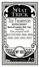 2003-04 Topps C55 Minis Hat Trick #100 Joe Thornton