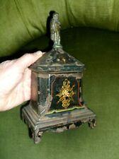 RARE ANTIQUE GEORGIAN CAST IRON TOBACCO JAR WITH NAPOLEON BONAPARTE FINIAL c1815