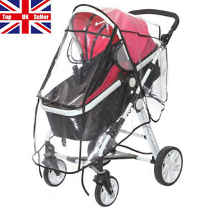 Clear Universal Rain Cover Pushchair Raincover Buggy Stroller Pram Vent Baby Car