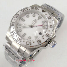 40mm bliger sterile white dial GMT sapphire glass automatic movement mens watch