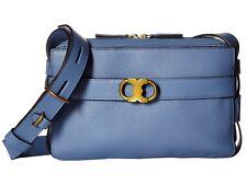 Tory Burch Gemini link camera bag wallis blue  Retail 450.00